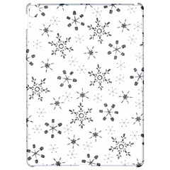 Black Holiday Snowflakes Apple Ipad Pro 12 9   Hardshell Case by Mariart