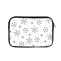 Black Holiday Snowflakes Apple Macbook Pro 15  Zipper Case by Mariart