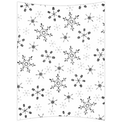 Black Holiday Snowflakes Back Support Cushion by Mariart