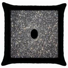 Black Hole Blue Space Galaxy Star Light Throw Pillow Case (black) by Mariart