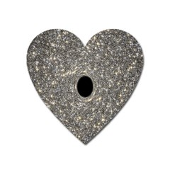Black Hole Blue Space Galaxy Star Light Heart Magnet by Mariart