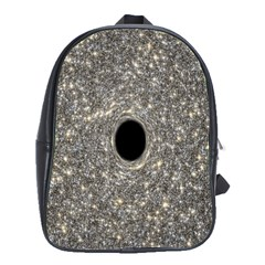 Black Hole Blue Space Galaxy Star Light School Bag (large) by Mariart