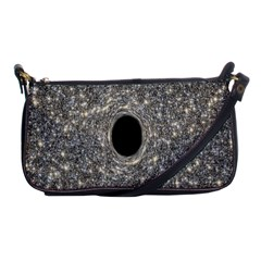 Black Hole Blue Space Galaxy Star Light Shoulder Clutch Bags by Mariart