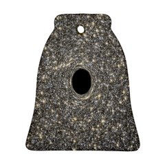 Black Hole Blue Space Galaxy Star Light Bell Ornament (two Sides) by Mariart