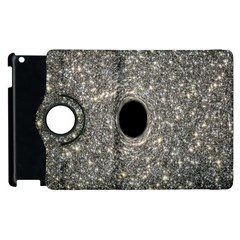 Black Hole Blue Space Galaxy Star Light Apple Ipad 2 Flip 360 Case by Mariart