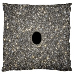Black Hole Blue Space Galaxy Star Light Large Flano Cushion Case (one Side) by Mariart