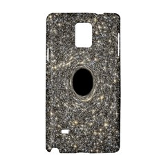 Black Hole Blue Space Galaxy Star Light Samsung Galaxy Note 4 Hardshell Case by Mariart
