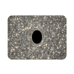 Black Hole Blue Space Galaxy Star Light Double Sided Flano Blanket (mini)