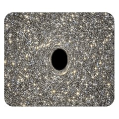 Black Hole Blue Space Galaxy Star Light Double Sided Flano Blanket (small)