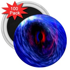 Blue Red Eye Space Hole Galaxy 3  Magnets (100 Pack) by Mariart