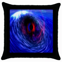 Blue Red Eye Space Hole Galaxy Throw Pillow Case (black) by Mariart