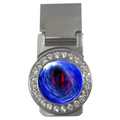 Blue Red Eye Space Hole Galaxy Money Clips (cz)  by Mariart