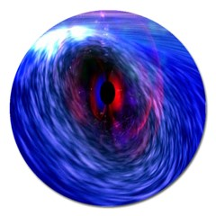 Blue Red Eye Space Hole Galaxy Magnet 5  (round) by Mariart