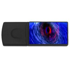 Blue Red Eye Space Hole Galaxy Rectangular Usb Flash Drive by Mariart