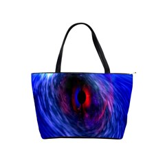Blue Red Eye Space Hole Galaxy Shoulder Handbags by Mariart
