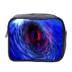 Blue Red Eye Space Hole Galaxy Mini Toiletries Bag 2 Side by Mariart