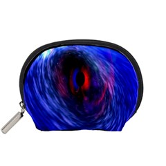 Blue Red Eye Space Hole Galaxy Accessory Pouches (small)  by Mariart