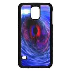 Blue Red Eye Space Hole Galaxy Samsung Galaxy S5 Case (black) by Mariart