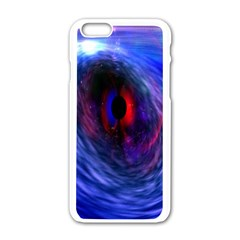 Blue Red Eye Space Hole Galaxy Apple Iphone 6/6s White Enamel Case by Mariart