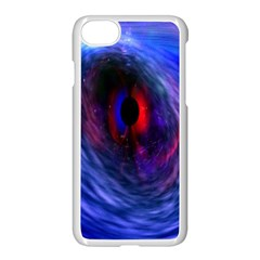 Blue Red Eye Space Hole Galaxy Apple Iphone 7 Seamless Case (white) by Mariart