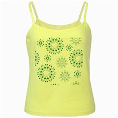 Blue Winter Snowflakes Star Triangle Yellow Spaghetti Tank by Mariart