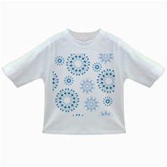 Blue Winter Snowflakes Star Triangle Infant/toddler T Shirts