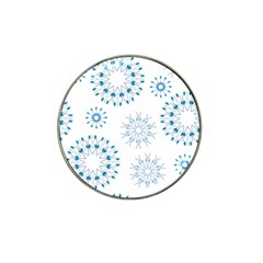 Blue Winter Snowflakes Star Triangle Hat Clip Ball Marker (10 Pack) by Mariart