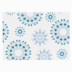 Blue Winter Snowflakes Star Triangle Large Glasses Cloth by Mariart