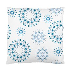 Blue Winter Snowflakes Star Triangle Standard Cushion Case (one Side) by Mariart