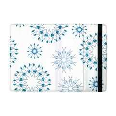 Blue Winter Snowflakes Star Triangle Apple Ipad Mini Flip Case by Mariart