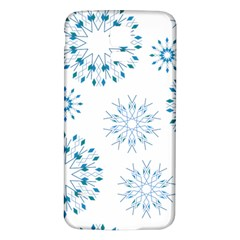 Blue Winter Snowflakes Star Triangle Samsung Galaxy S5 Back Case (white) by Mariart