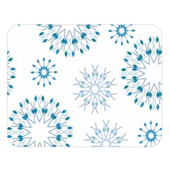 Blue Winter Snowflakes Star Triangle Double Sided Flano Blanket (large)  by Mariart