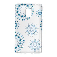 Blue Winter Snowflakes Star Triangle Galaxy Note Edge by Mariart