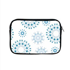 Blue Winter Snowflakes Star Triangle Apple Macbook Pro 15  Zipper Case by Mariart