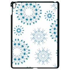 Blue Winter Snowflakes Star Triangle Apple Ipad Pro 9 7   Black Seamless Case by Mariart