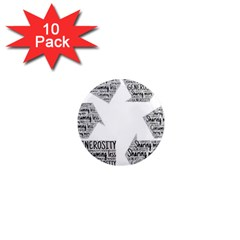 Recycling Generosity Consumption 1  Mini Magnet (10 Pack)  by Nexatart