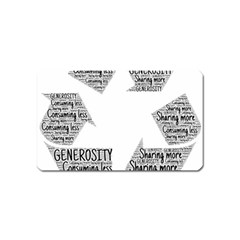 Recycling Generosity Consumption Magnet (name Card) by Nexatart