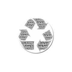 Recycling Generosity Consumption Golf Ball Marker (10 Pack) by Nexatart