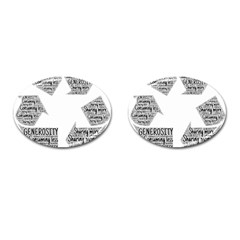 Recycling Generosity Consumption Cufflinks (oval)