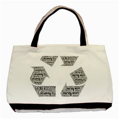 Recycling Generosity Consumption Basic Tote Bag by Nexatart