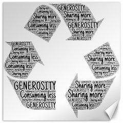 Recycling Generosity Consumption Canvas 20  X 20   by Nexatart