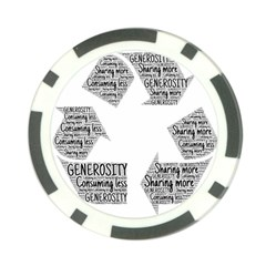 Recycling Generosity Consumption Poker Chip Card Guard (10 Pack)