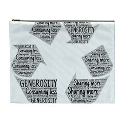 Recycling Generosity Consumption Cosmetic Bag (xl)