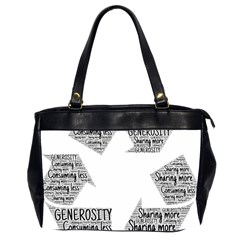 Recycling Generosity Consumption Office Handbags (2 Sides)  by Nexatart