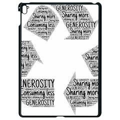 Recycling Generosity Consumption Apple Ipad Pro 9 7   Black Seamless Case by Nexatart