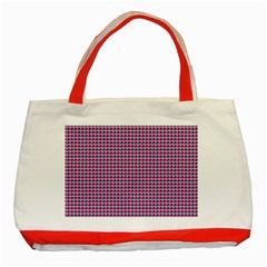 Pattern Grid Background Classic Tote Bag (red)