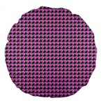 Pattern Grid Background Large 18  Premium Round Cushions Back
