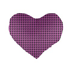 Pattern Grid Background Standard 16  Premium Heart Shape Cushions