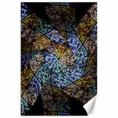 Multi Color Tile Twirl Octagon Canvas 24  X 36  by Nexatart