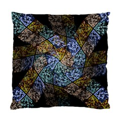Multi Color Tile Twirl Octagon Standard Cushion Case (two Sides) by Nexatart